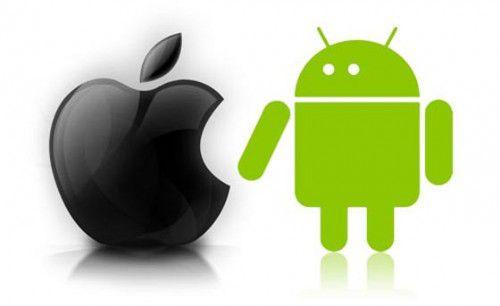 Progression d'iOS en France mais domination d'Android