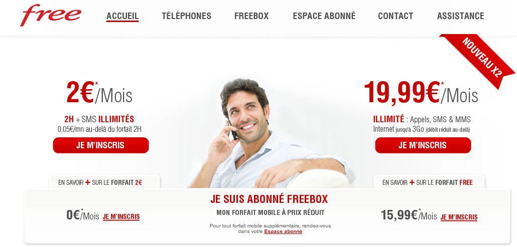 Abonnés Freebox : 2 forfaits mobiles à prix réduit