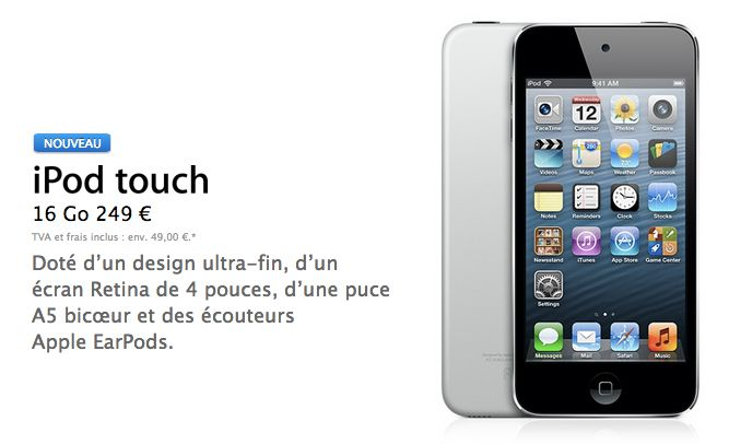 Nouvel iPod touch 16 Go