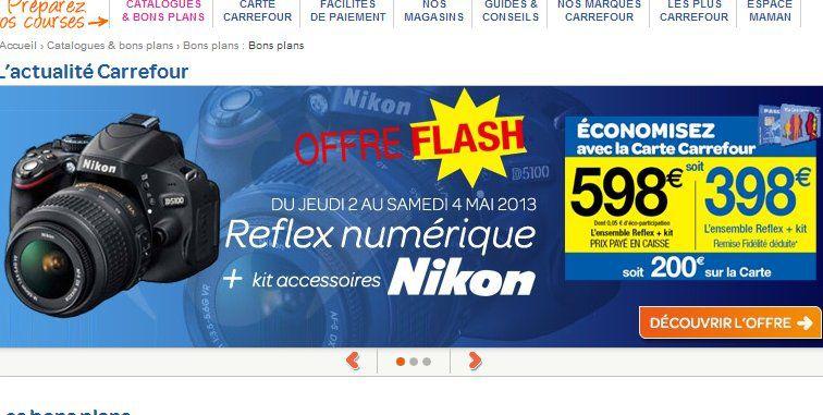 Nikon D5100 à 398€