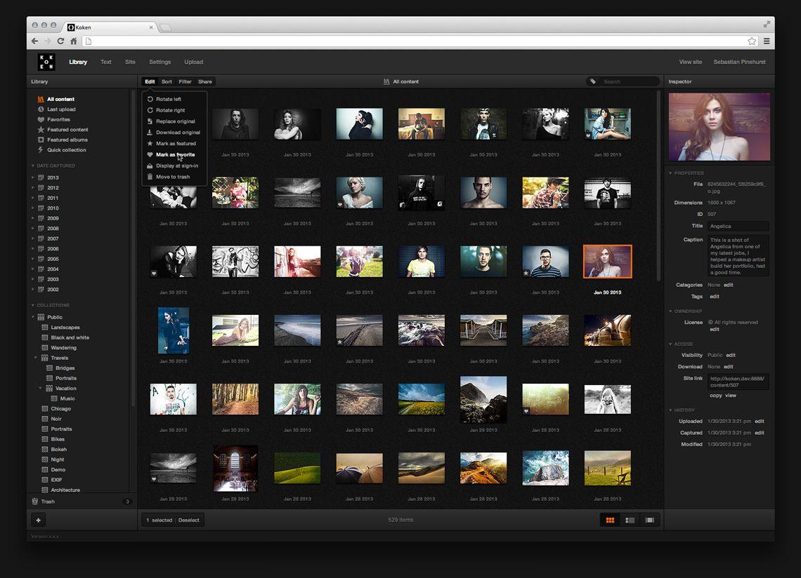Koken un blog pour les photographes