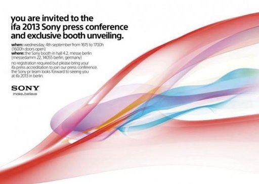 Conférence Sony le 4 septembre