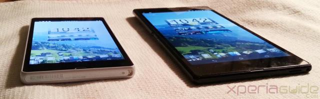 Comparatif d'écran entre le Xperia Z et le Xperia ZU