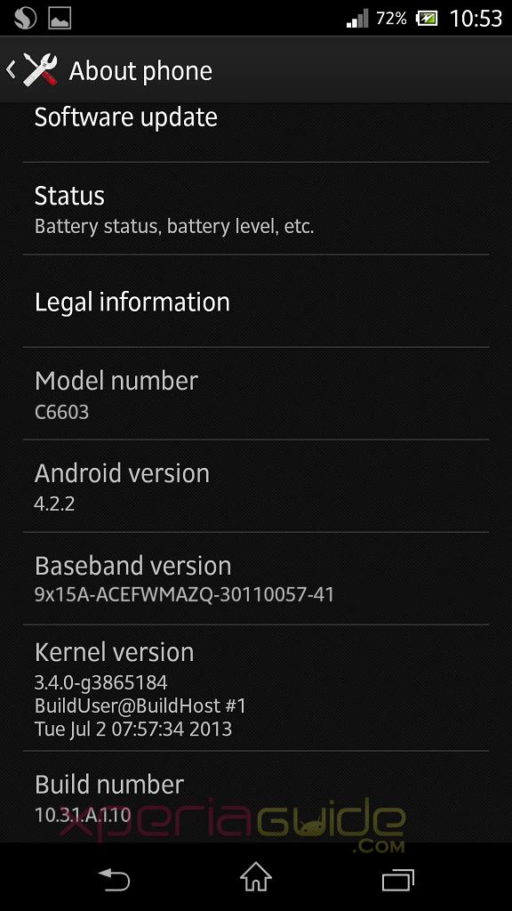 Une nouvelle mise à jour pour les Xperia Z chez Orange, la 10.3.1.A.1.10
