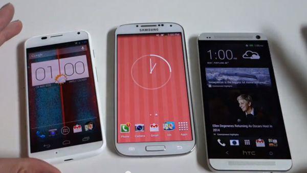 Présentation vidéo du Moto X et comparatif avec le Galaxy S4 et le HTC One