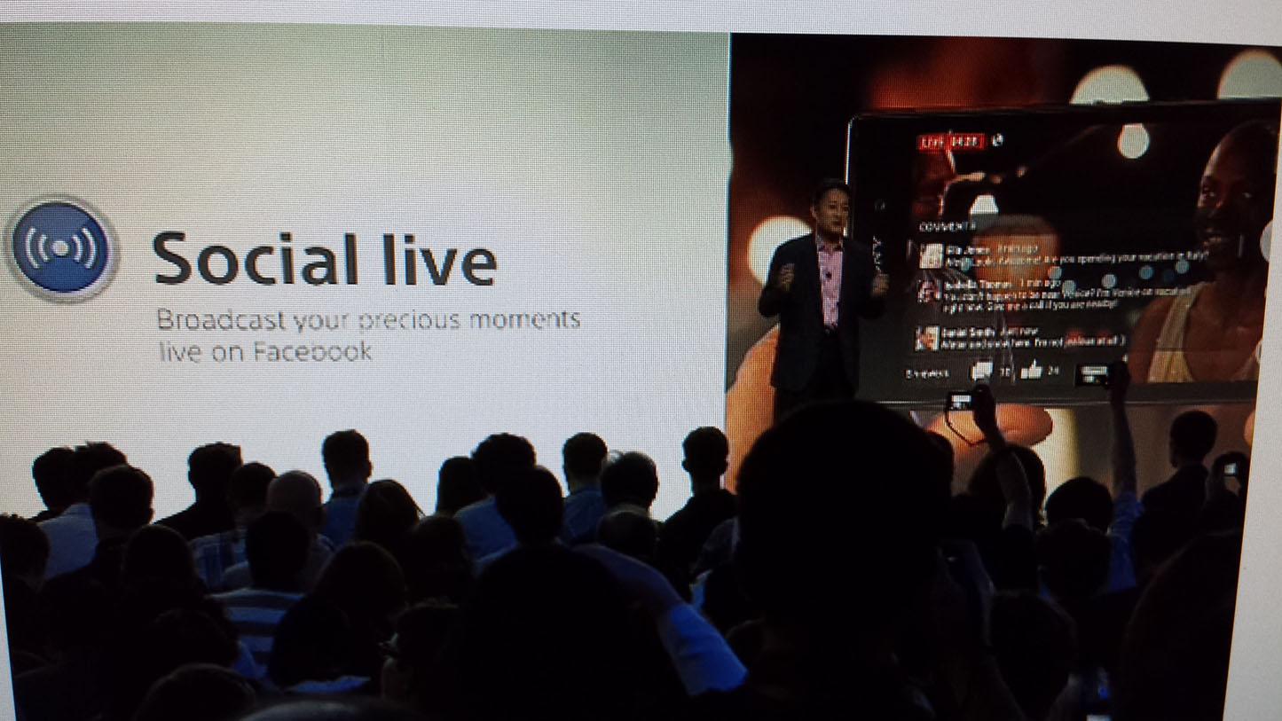 Démonstration de la fonction Social Live sur le Xperia Z1
