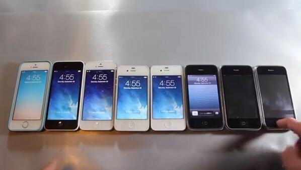 Une vidéo comparative de performance entre tous les iPhone