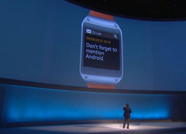 Le prototype de la montre Samsung Galaxy Gear dévoilée, coup marketing ?