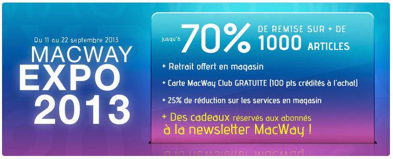Macway Expo 2013 : jusqu'à 70% de réduction