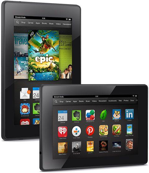 Les nouvelles Kindle Fire HD et HDX