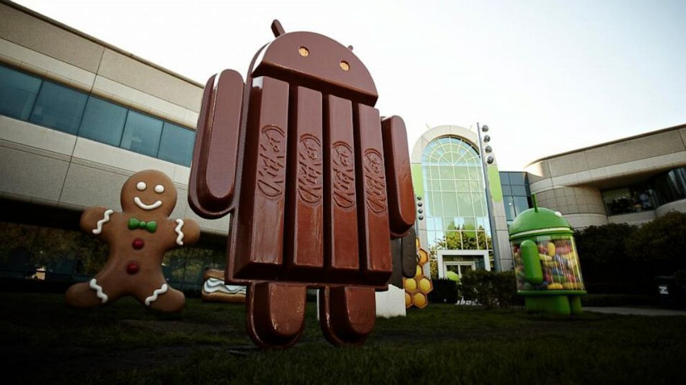 Des publicités pour le KitKat d'Android