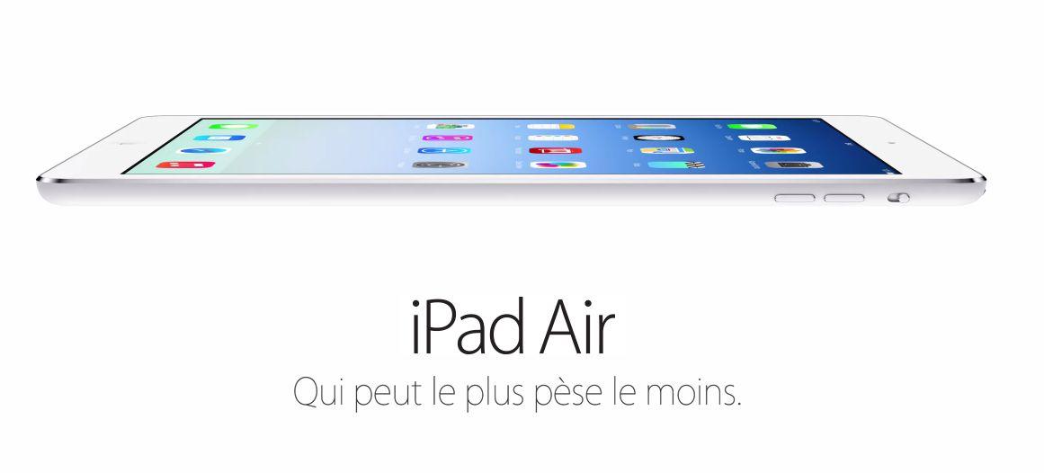 Une première publicité pour l'iPad Air