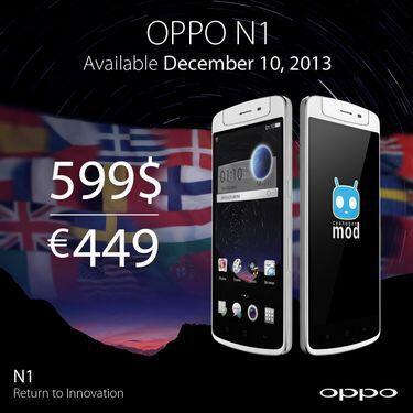 Lancement le 10 décembre du mobile Oppo N1