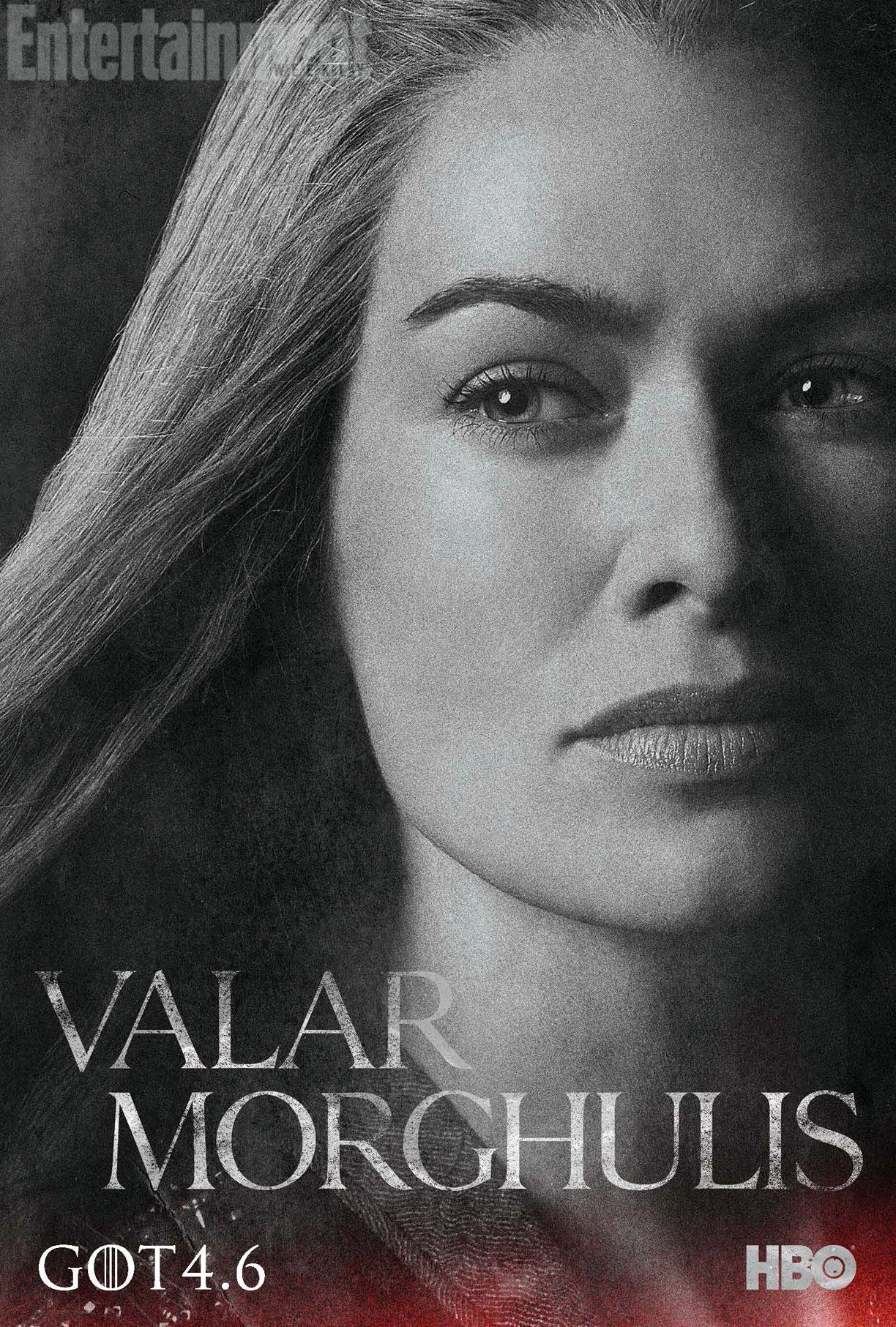 5 affiches des personnages de la saison 4 de Game of Thrones