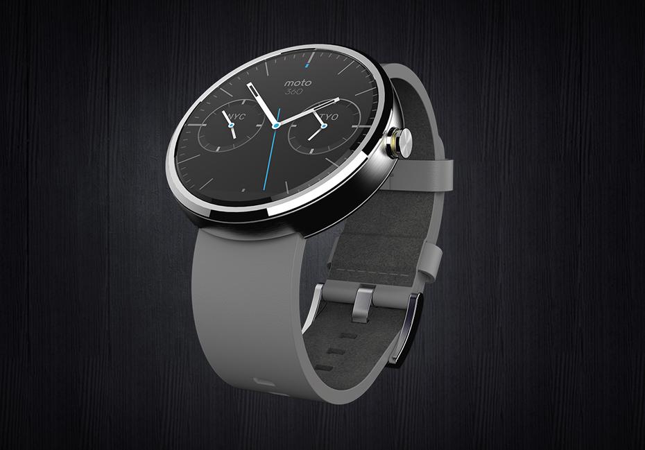 Une vidéo de synthèse présentant la montre connectée Moto 360
