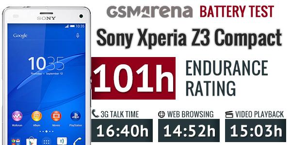 Le Sony Xperia Z3 Compact, le smartphone qui tient la charge le plus longtemps ?