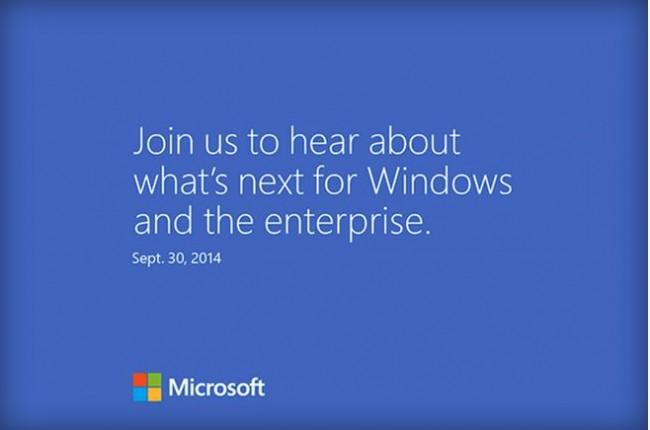 Windows 9 présenté le 30 septembre, c'est officiel