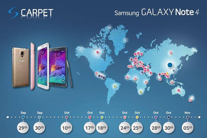 La date de sortie du Galaxy Note 4 en France officialisée