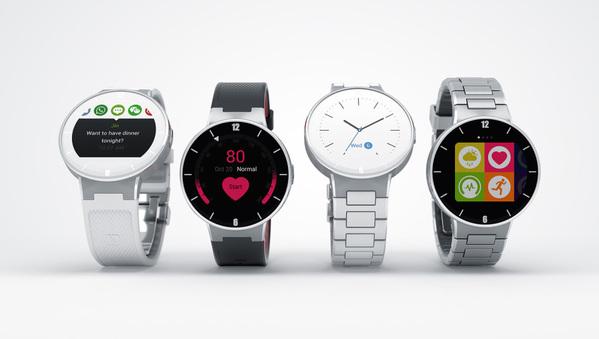 Une smartwatch Alcatel compatible iOS et Android