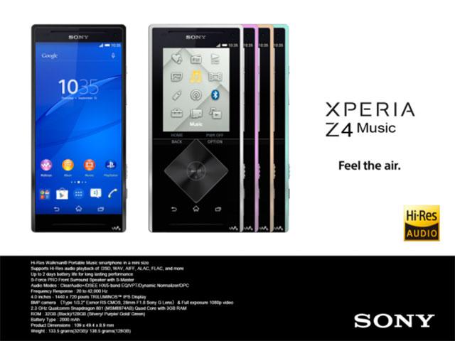 Le Xperia Z4 Music : un smartphone walkman