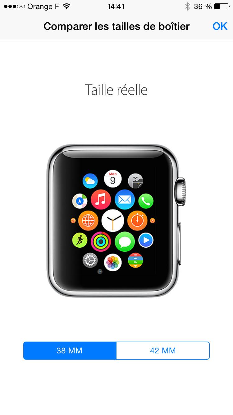 Quelle taille d'Apple Watch choisir, Apple a une application pour cela