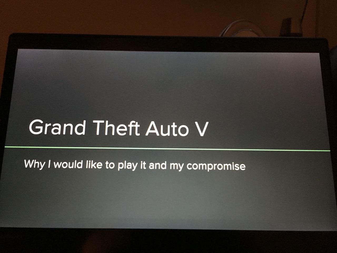 Vous voulez jouer à GTA V mais vos parents ne veulent pas, faites un PowerPoint!