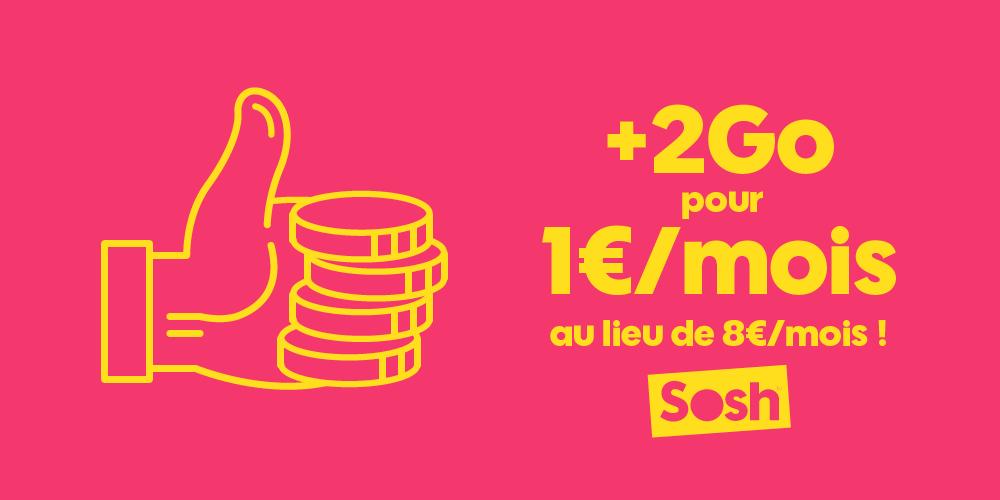 [Bon Plan] Chez Sosh : 2Go de Data pour 1 euro de plus par mois !