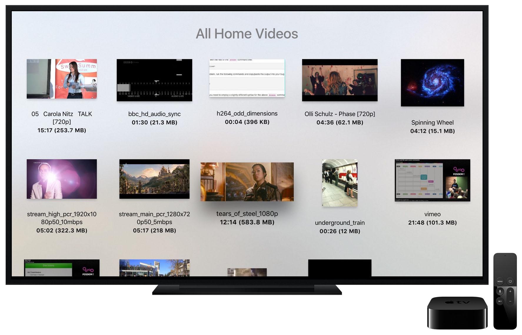 VLC est disponible sur l'Apple TV!