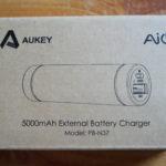Test de la batterie «lipstick» d'Aukey